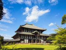 De hoofdzaal van de Todai ji tempel in Nara Stock Afbeelding