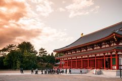 De hoofdzaal van de Yakushijitempel royalty-vrije stock foto