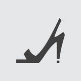 De hoog gehielde illustratie van het sandalspictogram vector illustratie