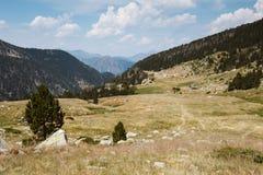 De Hooglanden van Andorra stock foto