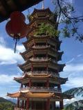 De Hooglanden van Chin Swee Caves Temple Genting van de pagodetoren, Maleisië stock foto