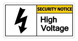 De hoogspanningsteken van het veiligheidsbericht op witte achtergrond, Vectorillustratie royalty-vrije illustratie
