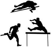 De hoogspringen van de atleet Stock Afbeelding