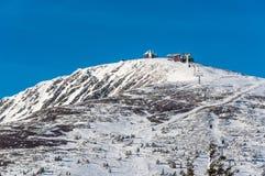 De hoogste berg in de Tsjechische Republiek Stock Foto