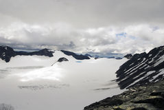 De hoogste berg in Noorwegen, Galhopiggen Stock Foto's