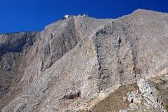De hoogste berg van Sontorini Stock Foto