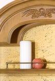 De hoogste bureau geïsoleerdes kaarsen van het broodje Stock Afbeelding