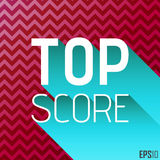 De hoogste Grafiek van Scoretittle Het winkelen markeringen en pictogrammen Chevron Achtergrondillustratie EPS10 Stock Foto