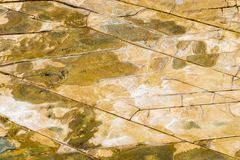 De hoogste luchtmening van zandsteen schommelt patroon op Australische kustlijn stock afbeelding