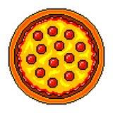 De hoogste mening gedetailleerde illustratie geïsoleerde vector van de pixelpizza royalty-vrije illustratie