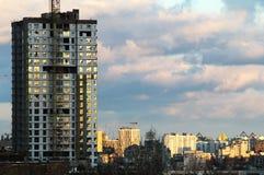 De hoogste mening tijd van de de bouwzonsondergang, mening van Donderhemel stock foto's