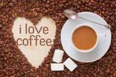 De hoogste mening van de koffiemelk Stock Fotografie