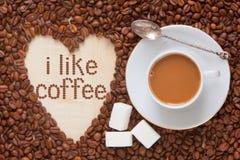 De hoogste mening van de koffiemelk Stock Afbeeldingen