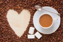 De hoogste mening van de koffiemelk Royalty-vrije Stock Foto
