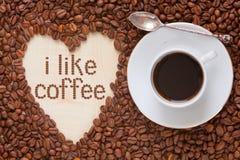 De hoogste mening van de koffiemelk Royalty-vrije Stock Fotografie