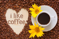 De hoogste mening van de koffiemelk Royalty-vrije Stock Afbeeldingen