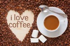 De hoogste mening van de koffiemelk Stock Foto