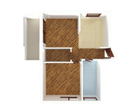 De hoogste mening van het huisplan - binnenlands ontwerp Stock Afbeeldingen