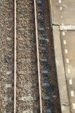 De hoogste mening van het spoorwegspoor Royalty-vrije Stock Foto's