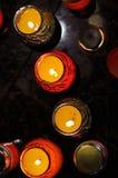 De hoogste mening van kaarsen Stock Afbeelding