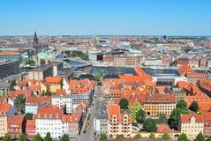 De hoogste-mening van Kopenhagen Stock Afbeeldingen