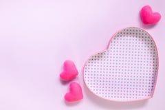 De hoogste mening van vlakte legt model met romantische Romantische decoratie, S Stock Afbeeldingen
