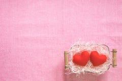 De hoogste mening van vlakte legt model met romantische Romantische decoratie, S Royalty-vrije Stock Foto