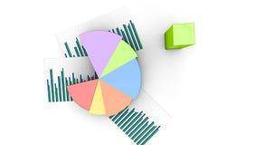 De hoogste menings bedrijfs financiële pastei en de bars, grafiek groeien, de grafiek van inkomenscijfers stock illustratie