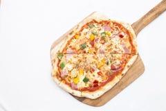 De hoogste menings Hawaiiaanse pizza is goed genoeg te eten Royalty-vrije Stock Fotografie