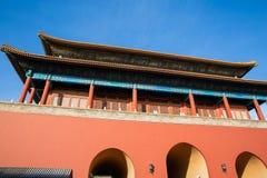 De hoogste Poort Verboden stad Peking, China stock foto's