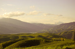 De Hoogste Zonsondergang van de berg Stock Foto