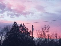 De hoogste zonsondergang van Idaho stock afbeelding