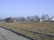 De hoogte van de de vluchthemel van de helikoptervlieg Royalty-vrije Stock Foto's