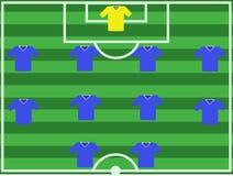 De hoogte van de voetbal. Stock Afbeeldingen
