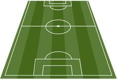 De hoogte van het het voetbalgebied van de voetbal Stock Afbeelding