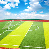 De hoogte van het mini-voetbal stock foto