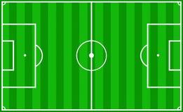 De hoogte van het voetbal Stock Foto's