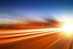 De hoogte versnelt snelheid uitvoert snel bewegende bedrijfsachtergrond stock afbeeldingen