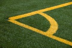 De hoogtehoek van het voetbal het merken Stock Afbeelding