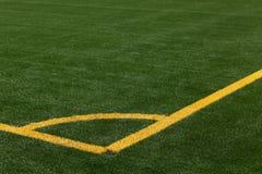 De hoogtehoek van het voetbal het merken Royalty-vrije Stock Fotografie