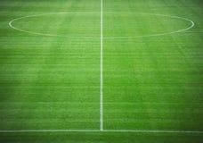 De hoogteillustratie van het voetbal pitch Stock Afbeeldingen