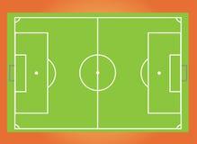 De hoogteillustratie van het voetbal pitch royalty-vrije illustratie