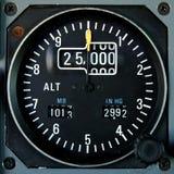 De hoogtemeter van vliegtuigen stock afbeeldingen