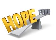 De hoop is belangrijker dan Vrees stock illustratie