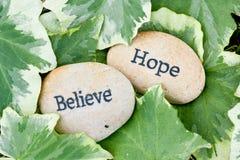 De hoop en gelooft Stock Foto