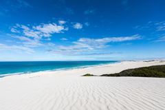 De hoop nature reserve white dunes and crystal clear waters of the Indian ocean stock photography