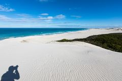De hoop nature reserve white dunes and crystal clear waters of the Indian ocean royalty free stock photo