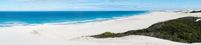 De hoop nature reserve white dunes and crystal clear waters of the Indian ocean stock photo