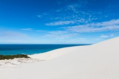 De hoop nature reserve white dunes and crystal clear waters of the Indian ocean stock images