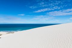 De hoop nature reserve white dunes and crystal clear waters of the Indian ocean royalty free stock photos